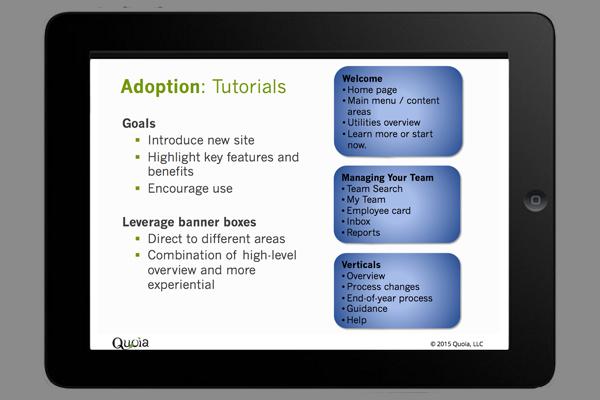 Adoption tutorials iPad